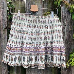 Free People One border print skirt